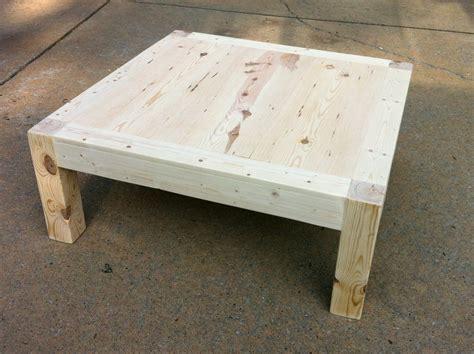 jajake learn diy 4x4 coffee table - 4x4 Coffee Table