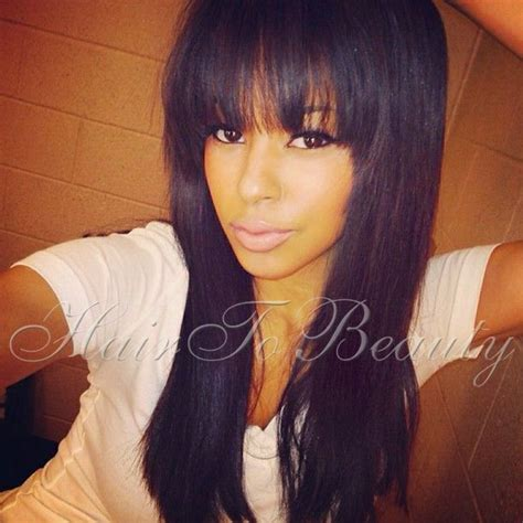 weaves with bangs for black women 29 best images about bang obsession on pinterest full