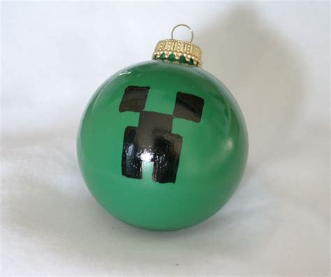 minecraft creeper christmas ornament