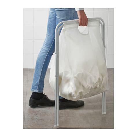 Ikea Snajda Kantong Cucian 60 L jual ikea laundry basket with stand keranjang pakaian kotor dapat dilipat blanjaanku