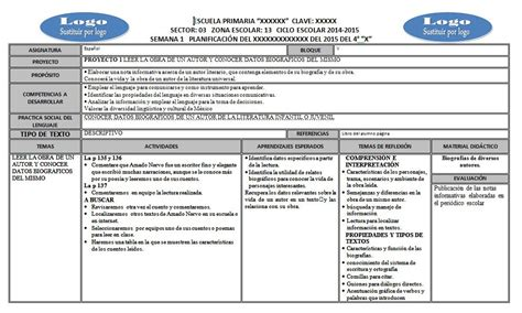 planeacion gratis de primaria 2016 planeaci 243 n del cuarto grado del quinto bloque por semana
