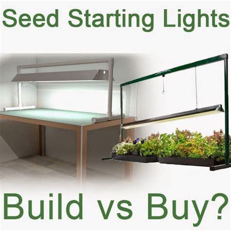 seed starting grow lights build or buy gardening