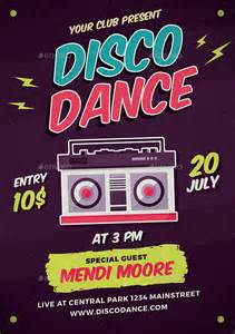 disco template poster template 33 free psd indesign format