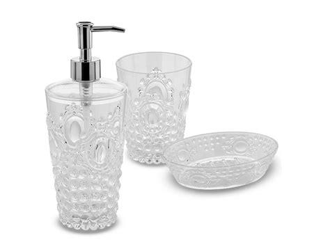 set per il bagno set accessori per bagno clear