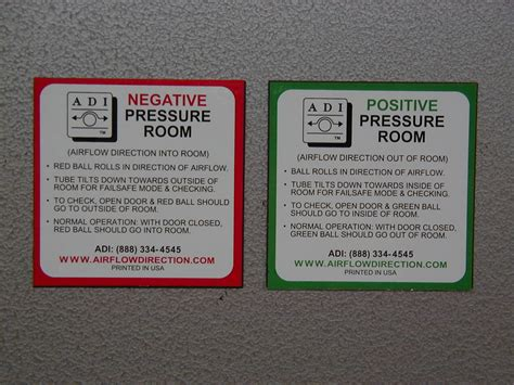 positive pressure room airflow direction inc products