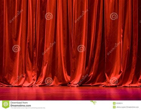 Velvet Stage Curtains Velvet Stage Curtains Stock Images Image 2233974