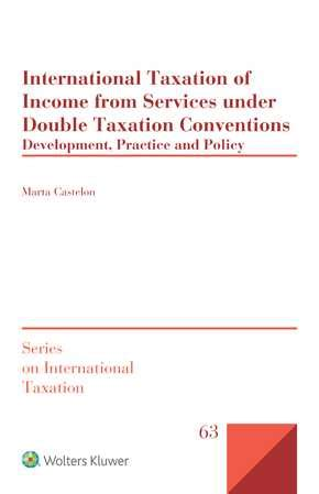 Taxation Policy And Practice international taxation of income from services