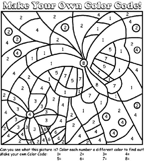 Butterfly Color By Number Coloring Page Crayola Com Free Color By Number Coloring Pages