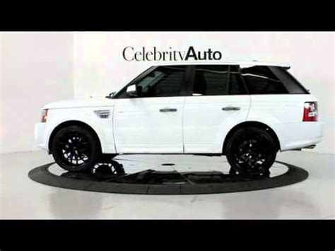 land rover white black rims 2011 range rover sport white tan 22 quot custom painted body