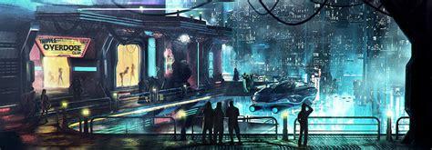 cyberpunk city concept environment sci fi concept art cyberpunk district concept art by maciej drabik art