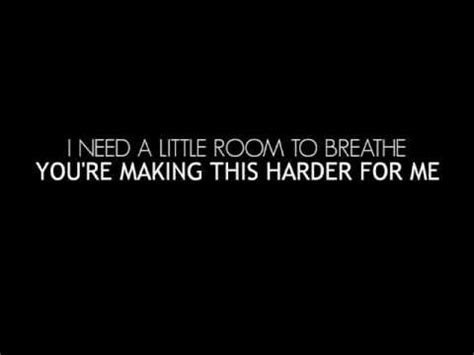 you me at six room to breathe lyrics