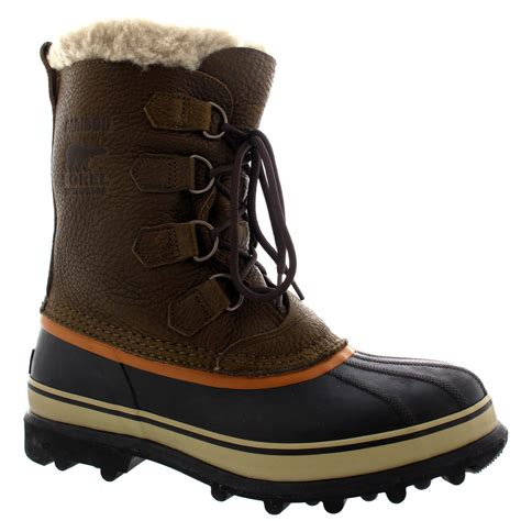 mens fur snow boots mens sorel caribou wi mid calf snow winter fur lined