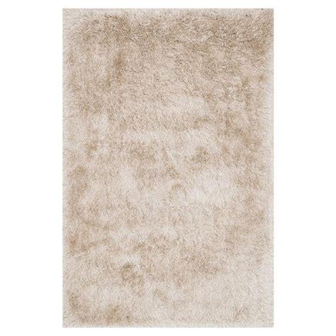 sona rug sona modern sleek beige shag rug 3 6x5 6 kathy kuo home