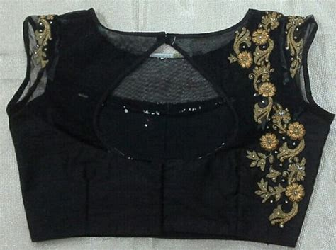 boat neck with leaf design 30 impressive designs of maggam work blouses in india