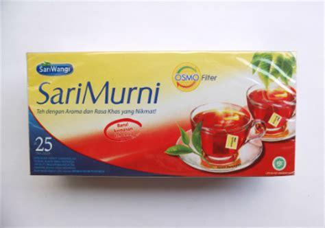 Teh Sari Murni review produk teh celup hitam blau regen