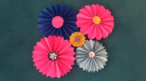 Flowers With Papers - paper flowers diy
