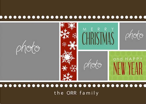 christmas photo card templates photoshop best