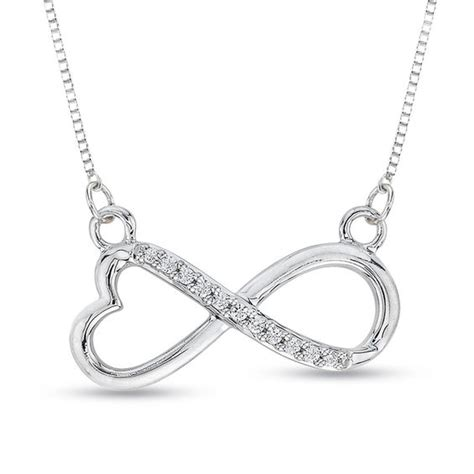 accent infinity with necklace in sterling