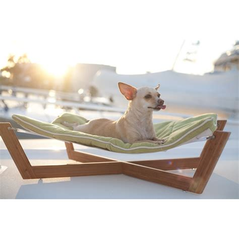 bamboo dog hammock in pet beds small pet hammock dog bed by pet lounge studios
