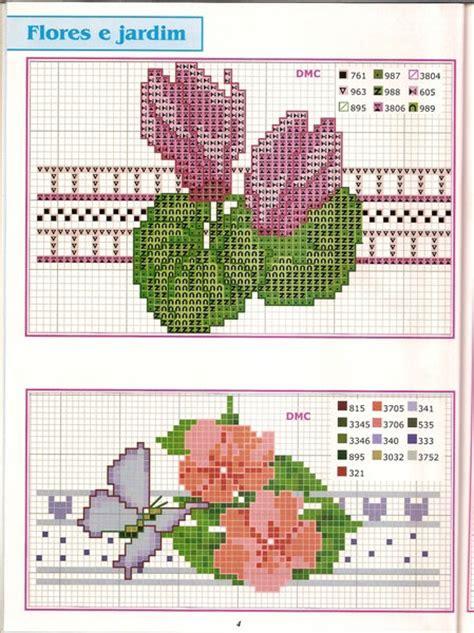 schemi punto croce farfalle e fiori bordure ciclamini fiori farfalle magiedifilo it punto