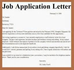 Business Letters Of Application Business Letter Examples Job Application Letter
