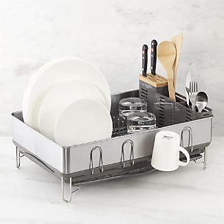 dish racks steel frame and crate and barrel on