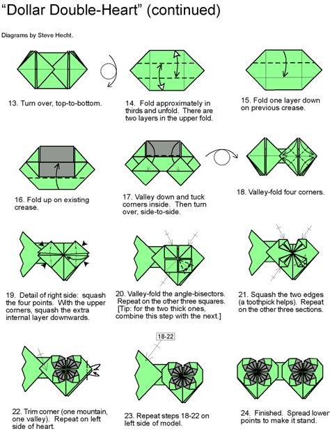 Dollar Origami Diagrams - origami dollar bill driverlayer