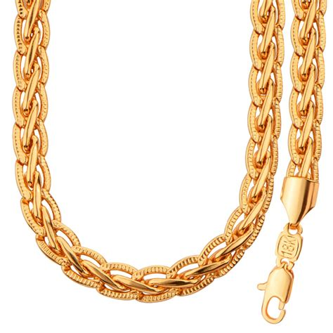 new pattern gold necklace gold color snake chain jewelry set trendy chain necklace