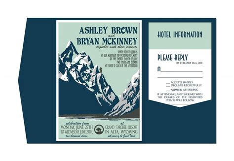 Wedding Invitations Mountains by 10 Beautiful Mountain Wedding Invitations
