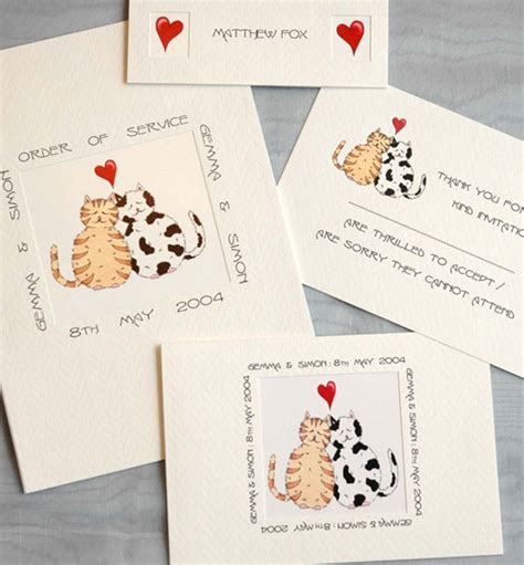Cat Themed Wedding Invites by Wedding Stationery Cats