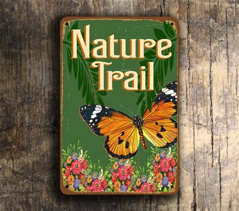 nature trail signs nature trail classic metal signs