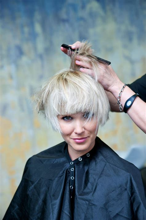 download videos of making hairstyles making new hairstyle stock photo image of beauty prepare