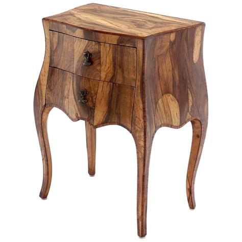 bombay company side table patched burl wood bombay side table nightstand at