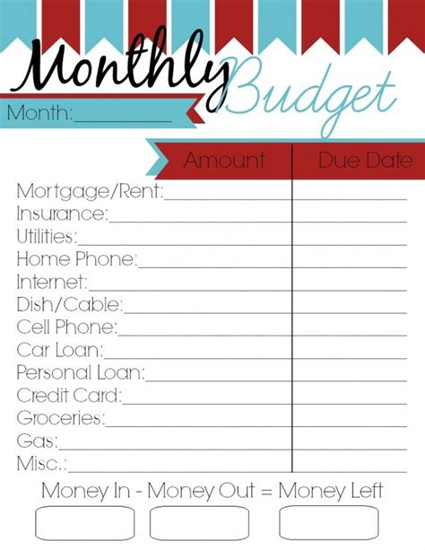 ideas monthly budget planner pinterest