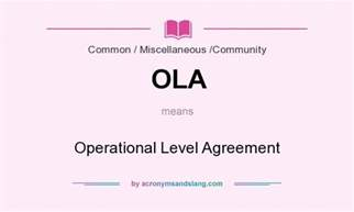 Ola Operational Level Agreement Template operational level agreement submited images