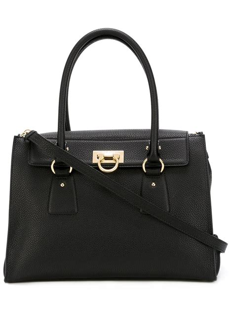 Salvatore Ferragamo Mistico Cork Calfskin Shoulder Bag by Lyst Ferragamo Lotty Bag In Black