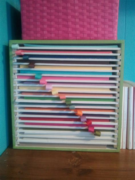 How To Make A Paper Organizer - crafty storage s awesome paper storage idea