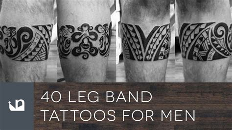 leg band tattoos for men 40 leg band tattoos for
