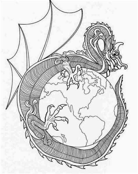 hard coloring pages of dragons more information