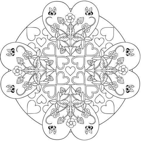 mandala coloring pages hearts welcome to dover publications