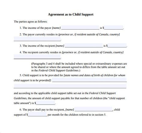 child support agreement template rubybursa com