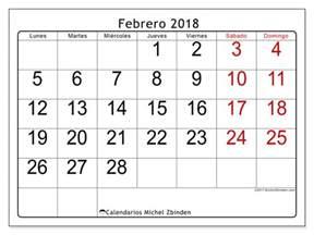Calendario Febrero 2018 Calendarios Para Imprimir Febrero 2018 Fecha Mes