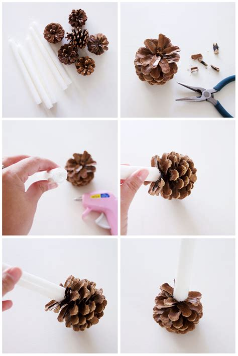 Christmas Centerpiece Images - diy pine cone candle holders i heart nap time