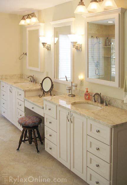 bedroom bureau cabinet orange county ny rylex custom bathroom vanity with makeup counter granite bathroom