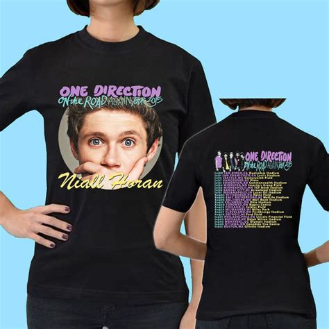 Kaos 1d Naill Horan One Direction Tshirt Tees T Shirt Baju 1d one direction on the road again tour date 2015 t shirt niall horan