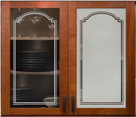 arched stepped  cabinet glass sans soucie art glass
