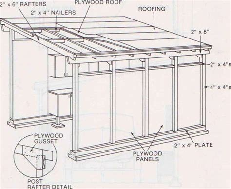 Shed Roof Plan by Shed Roof Garage Plans Shed Shed Roof