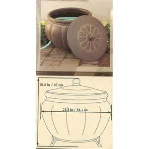 Garden Hose Storage Pot Garden Hose Storage Pot With Lid Lawn And
