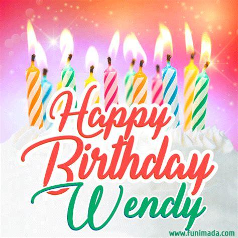 happy birthday gif  wendy  birthday cake  lit candles   funimadacom