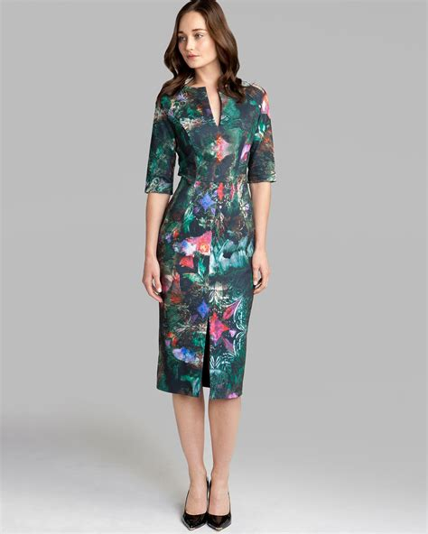 ted baker dress iyana in black lyst